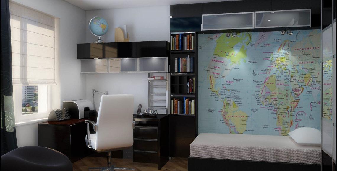 Трехкомнатная квартира 100 м²