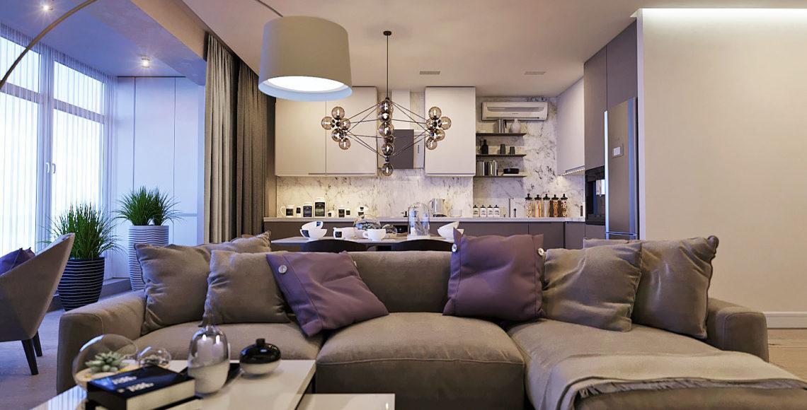Трехкомнатная квартира 110 м²